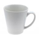 Taza Cónica 12 Oz cerámica color liso Blanca