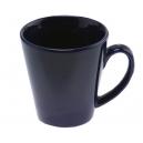 Taza Cónica 12 Oz cerámica color liso Cobalto o negra