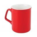 Taza Boston con asa triangular 11 Oz cerámica Rojo con blanco