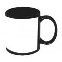 Taza para sublimar Tarro Venus 11 Oz Negra con cuadro blanco Sublimacion PROMOCIONAL