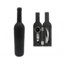 Set de Vino con 3 accesorios Sagreto estuche en forma de botella