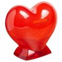 Alcancía corazón de plástico translucido