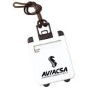 Identificador de equipaje en forma de maleta