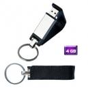 Memoria USB Llavero con cubierta de piel 4 GB