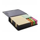 Porta notas Pelle con post it adhesivos y banderillas de colores