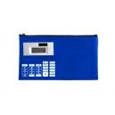 Lapicera escolar tipo bolsa con calculadora