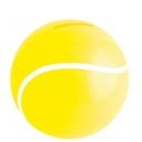 Alcancía de plástico con forma de pelota de tennis