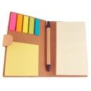 Libreta ecológica con notas adhesivas y bolígrafo a juego