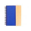 Libreta ecológica Génova con notas adhesivas y bolígrafo a juego
