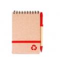 Libreta ecológica de bolsillo Florencia con elástico sujetador