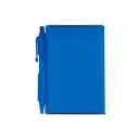 Libreta parea notas de pastas rígidas en plástico y bolígrafo