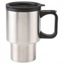 Termo doble pared Travel Mug ideal para el coche con mango 400 ml
