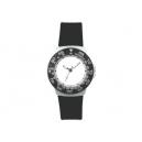 Reloj de pulso con caja metálica y extensible de plástico