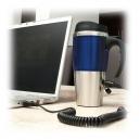 Taza electro térmica HEAT 350 ml con conexión para automóvil y USB