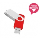 Memoria USB de 8 Gb plástica con cubierta giratoria de metal