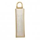 Bolsa para botella de vino PALERMO de yute con interior plastificado