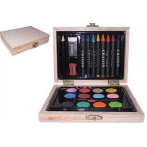 Set de dibujo CREATIVE COLOR con caja de madera