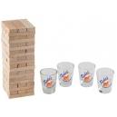 Torre Jenga Liquid piezas de madera y caballitos
