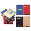 Libreta ecológica TRESH con notas adhesivas y bolígrafo