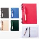 Libreta ecológica Onix de 70 hojas con bolígrafo a juego