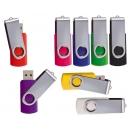 Memoria USB Color Flash SR 4 Gb con cubierta giratoria de metal