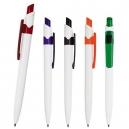 Bolígrafo o pluma de plástico con clip de corte inclinado
