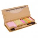 Set porta notas adhesivas tipo caja de cartón INZIA