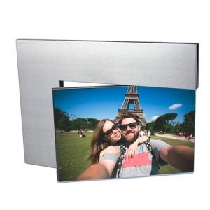 Portarretrato giratorio de  aluminio para dos fotografías TUAREG