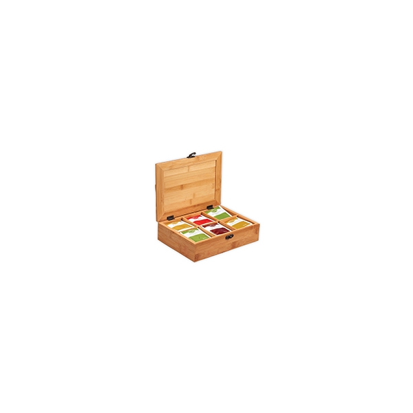 3529ee9b8 Caja de bambú para sobres de té promocionales | RA-18002 ...