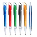 Bolígrafo plástico CONTEMPO con cuerpo traslucido