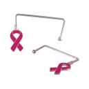 Práctico sujeta bolsas modelo RIBBON PORTA con emblema de cáncer de mama