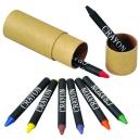 Set de estuche con 8 crayones de colores