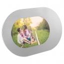 Portarretrato elíptico de aluminio para foto tamaño estándar URBEL