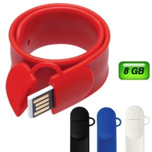 c6c3f399361f Memoria USB Slap pulsera de silicón 8 GB