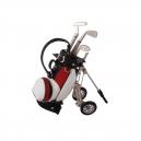 Bolsa de golf en curpiel con plumas metálicas