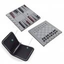 Juego de ajedrez y backgammon magnético en carpeta de nylon