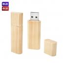 USB ecológico de bambú rectangular con cap 4GB y 8GB