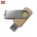 USB clásica giratoria de madera cap 4GB y 8GB