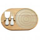 Tabla de madera y cristal para quesos
