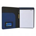 Porta documentos en color negro y detalles en varios colores