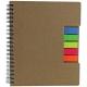 Libreta ecológica de papel reciclado Memory 25 hojas y notas adhesivas