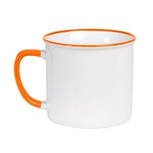 Taza de cerámica blanca con detalles de color 400 ml