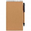 Libreta ecológica con soporte y bolígrafo MALIA