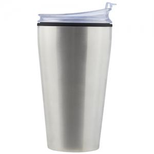Vaso térmico de acero inoxidable ONELA de doble pared con tapa plástica 475 ml