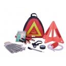 Kit de emergencia vial o de auto Carso con triangulo y guantes
