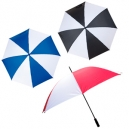 Paraguas bicolor 152 cm de diámetro y 8 gajos