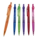 Bolígrafo o pluma de plástico translucido Tec con grip de goma