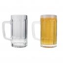 Tarro cervecero de vidrio 360 ml Beer con asa