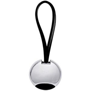 Práctico Llavero Metalico con Detalles en Silicon color Negro