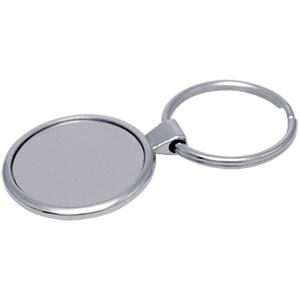 Llavero Metalico Round con espacio para gota de Resina